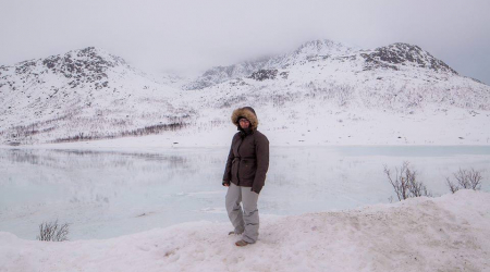 A Tromso in inverno con la piccola Matilde!